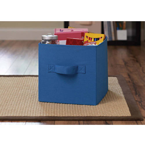 better homes and gardens collapsible fabric storage cube set of 2 multiple colors walmartcom
