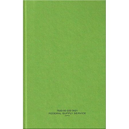 Binder Log Book (Green Military Log Book, Record Book, Memorandum Book, 5-1/2 X 8 Green LogBook NSN 7530-00-222-3521 )