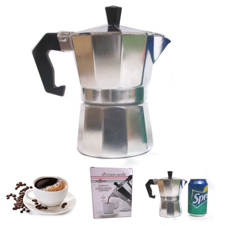 Stove Top Espresso Cuban Coffee Maker pot Cappuccino Latte 3 Cup Cafetera