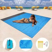 Sand Free Beach Blanket, Extra Large Waterproof Beach Mat-Lightweight Quick Drying Heat Resistant Outdoor Picnic mat for Travel, Camping, Hiking and Music Festivals(82 X78)