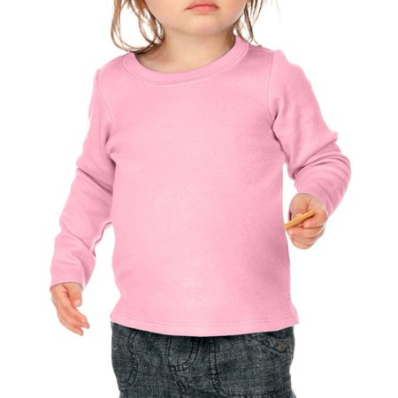 Kavio I1C0266 Infants Baby Doll Long Sleeve Top-Baby Pink-18M ()