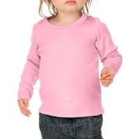 Kavio I1C0266 Infants Baby Doll Long Sleeve Top-Baby Pink-18M