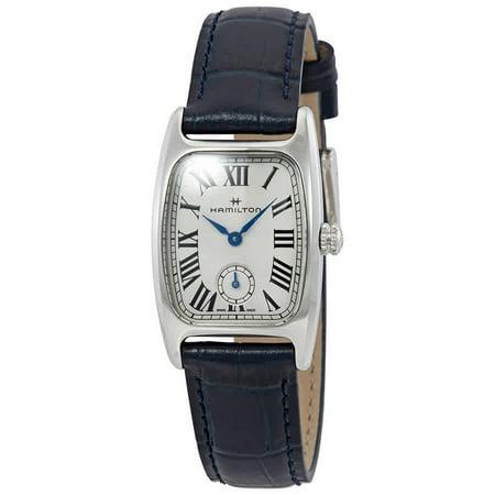 Hamilton Boulton Silver-White Dial Blue Leather Ladies Watch H13321611
