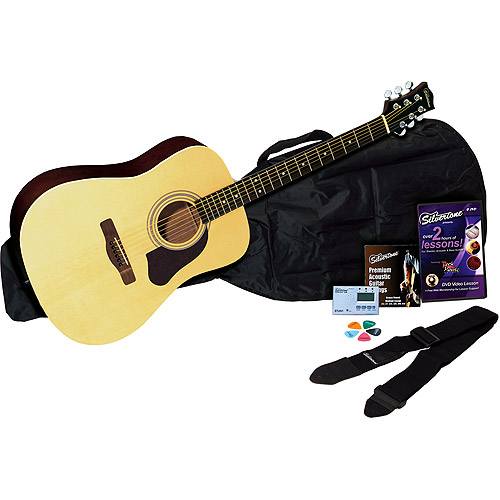 Silvertone SD20 Complete Acoustic Guitar Package, Natural