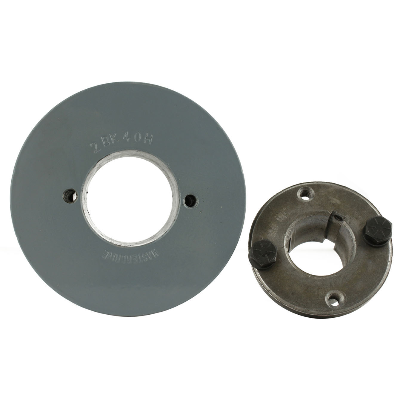 """Cast Iron 3.5/"""" 2 Groove Dual Belt B Section 5L Pulley And 1-3//8/"""" Sheave Bushing"""