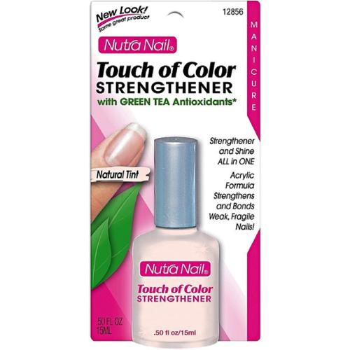 Nutra Nail Touch of Color Strengthener, Natural Tint 0.50 oz (Pack of 4)
