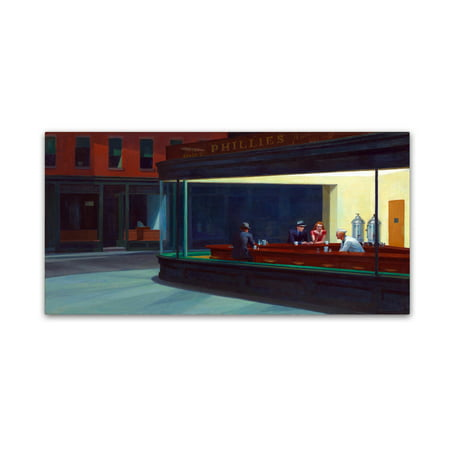 Trademark Fine Art 'Nighthawks' Canvas Art by Edward Hopper ()