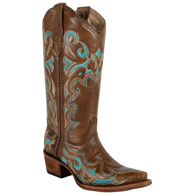 Circle G Womens Turquoise Accents Boots