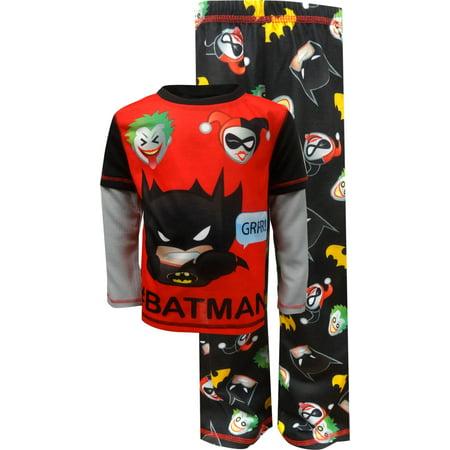 DC Comics Little Boys' 2-Piece Pajamas (Sizes 4 - 7) - Harley Pajamas