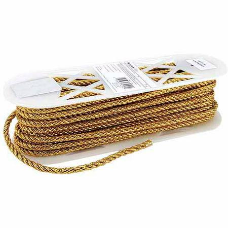 Wrights Large Metallic Twisted Cord, 1/4