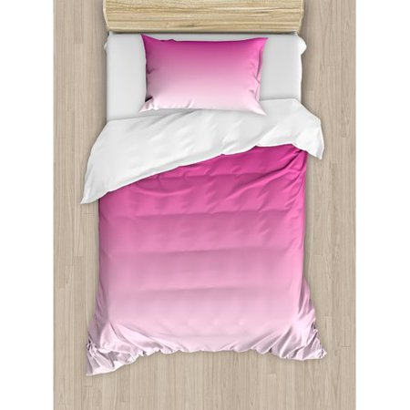 Ambesonne Ombre Candy and Inspired Ombre Digital Design Art Print Modern Room Decorations Duvet Cover Set