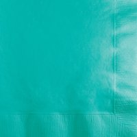 Club Pack of 500 Teal Green Premium 3-Ply Beverage Party Napkins 5""