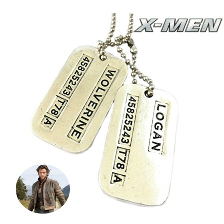 Marvel Comics X-Men Necklace Pendant - Wolverine Dog Tags - Movies TV Series Cosplay Jewelry by Superheroes