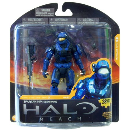 Police Custom (Toys Halo Reach Series 3 Spartan Military Police Custom (Male) Action Figure, Figure comes with the fully enclosed spartan variant of the military police helmet By)