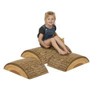 ECR4Kids SoftZone Tree Log Climber Play Set - Active Balance Kit for Kids, 3-Piece Soft Set