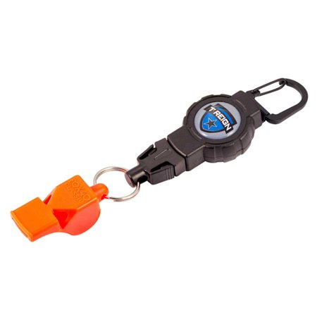 (T-Reign Retractable Gear Tether with FOX40 Whistle)