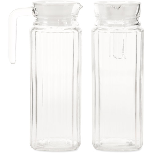 Amici Refrigerator Square Glass Pitcher, Set of 2