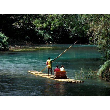 Art Print Greg Stocks - Rafting on the Martha Brae River, Jamaica, Caribbean Print Wall Art By Greg Johnston