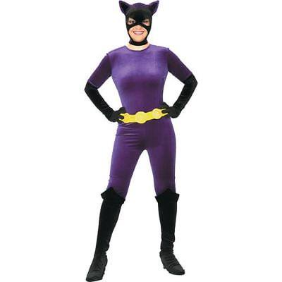 IN-MC1588SM Purple Catwoman Halloween Costume for Women SMALL By Fun Express