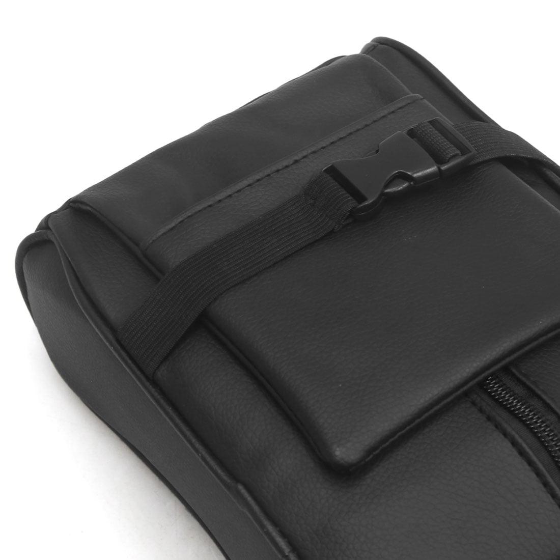 Black Faux Leather Memory Foam Car Auto Center Console Armrest Cushion Pad - image 2 of 4