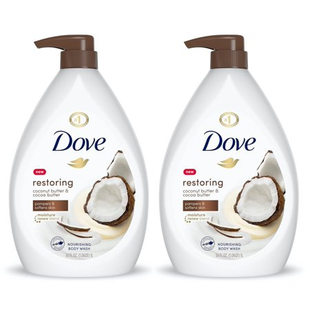 (2 pack) Dove Purely Pampering Body Wash Coconut Milk with Jasmine Petals 34 oz