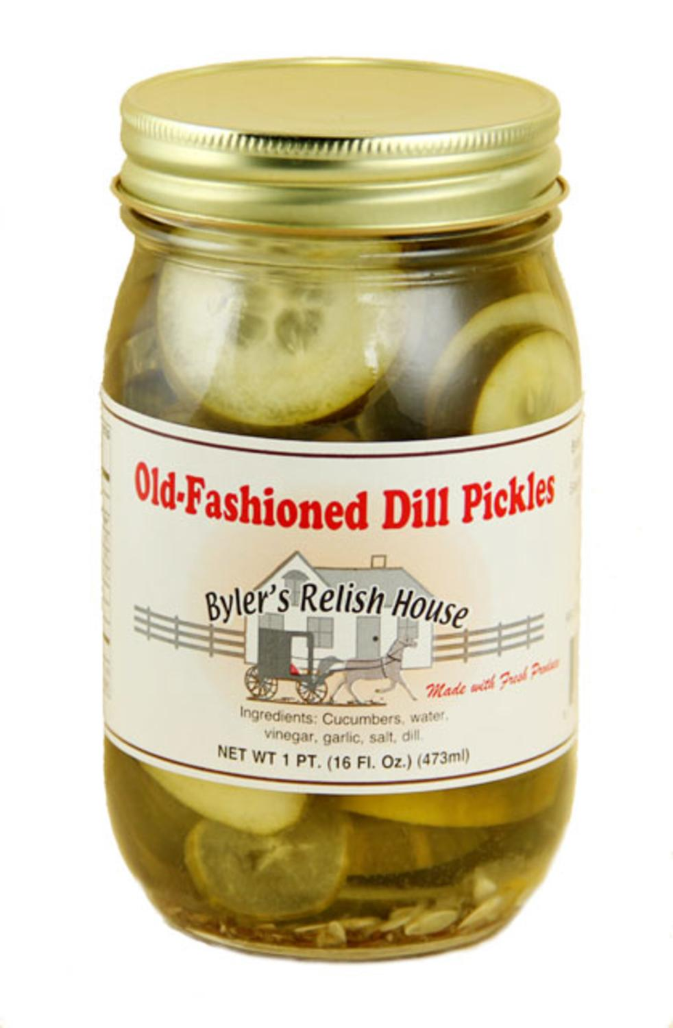 Byler's Relish House Homemade Amish Country Old-Fashioned Dill Pickles 16 oz. by Byler's Relish House