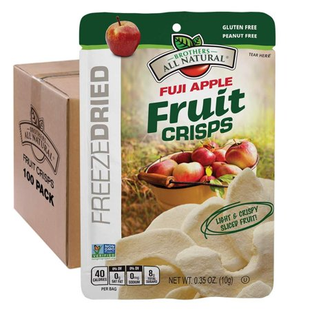 Brothers-ALL-Natural Fruit Crisps, Fuji Apple, 0.35 Ounce (Pack of 100) Pack of 100 ()