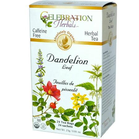 Celebration Herbals Organic Dandelion Leaf Tea Caffeine Free 24 Herbal Tea Bags Dandelion Organic Cotton