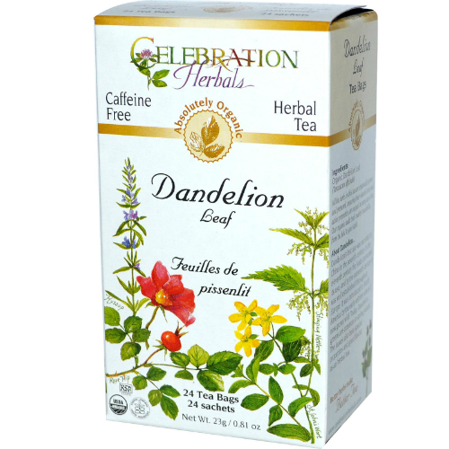 Celebration Herbals Organic Dandelion Leaf Tea Caffeine Free 24 Herbal Tea Bags