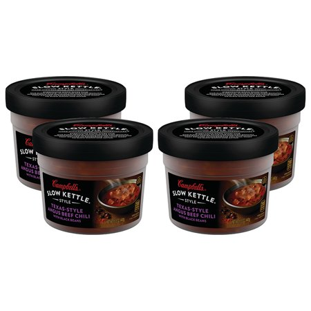 (3 Pack) Campbell'sàSlow Kettle Style Texas-Style Angus Beef Chili with Black Beans, 15.5 oz. (Best Bean Soup Ever)