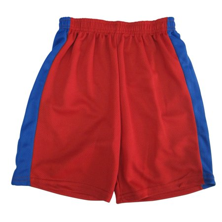 s Little Boys Red Royal Blue Side Stripe Basketball Shorts 4-7](Red Boy Shorts)
