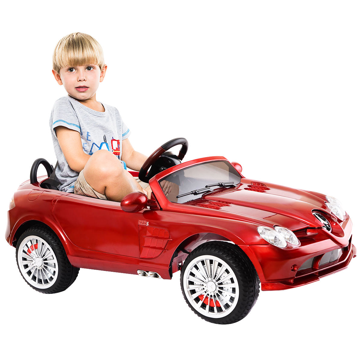 Costway Mercedes Benz R199 12V Electric Kids Ride On Car Licensed MP3 RC Remote Control