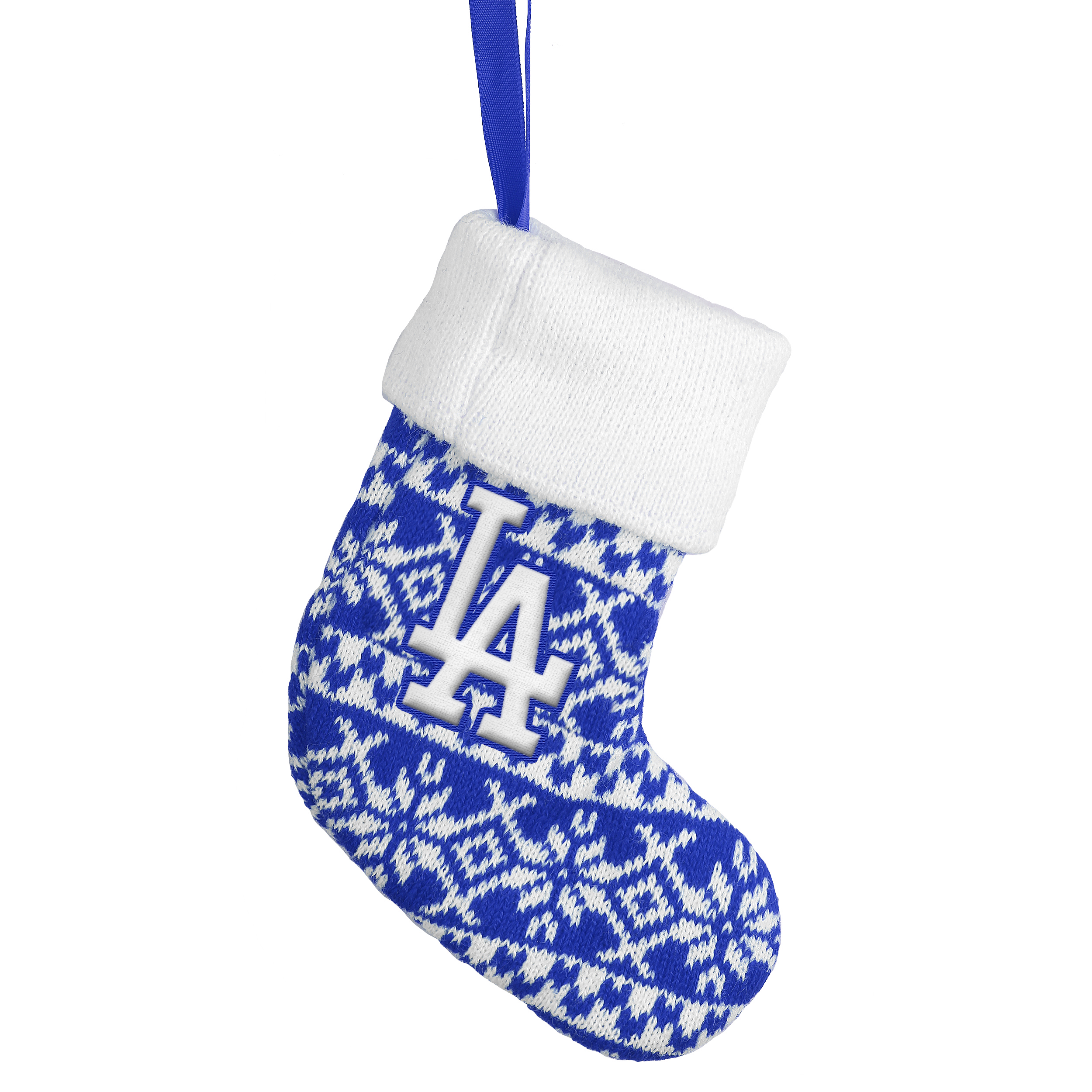 Los Angeles Dodgers Official MLB Holiday Knit Stocking Christmas ...