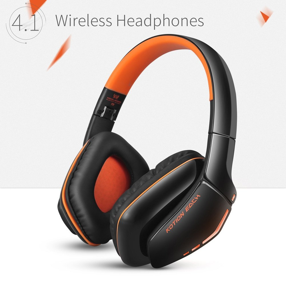 Kotion Each B3506 Bluetooth Headphones For Ps4 Wireless Headset With Microphone Noise Isolation Foldable Gaming Headset Wit Walmart Com Walmart Com