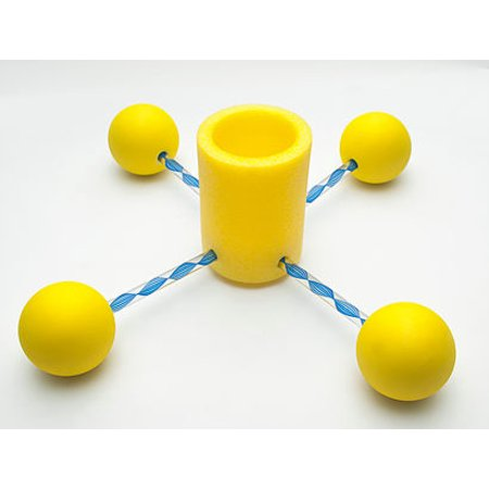 Floozie-Blue Canister with Yellow Floats, Floating Beverage Holder