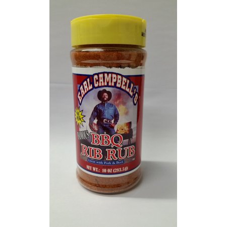 (2 Pack) Earl Campbell's Famous BBQ Rib Rub, 10