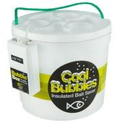 Marine Metal Cool Bubbles 8 Quart Foam Fishing Bait Bucket and Pump Kit, Medium, White
