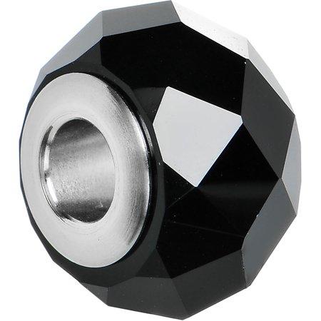 Black BeCharmed Briolette Created with Swarovski Crystals