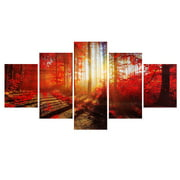 On   My. Way 1/2/3/5 Pcs Frameless Canvas Prints Pictures, Morden Abstract Paintings, Canvas Wall Art, Home Decor