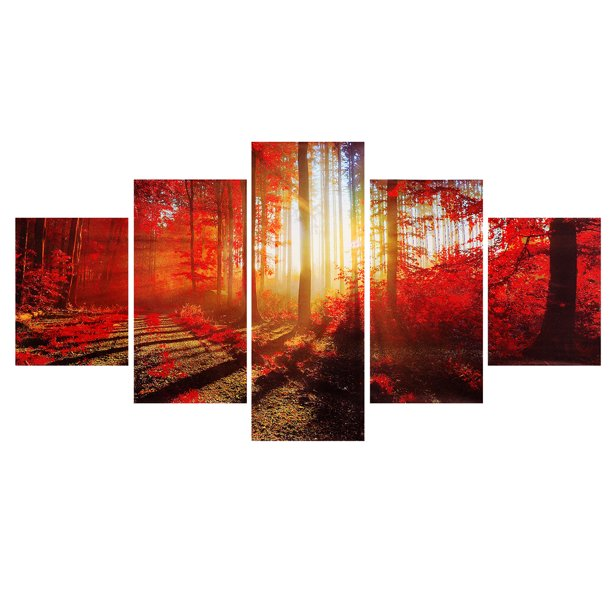 5 Piece Frameless Canvas Prints Pictures Art Print Modern Abstract Paintings Canvas Wall Art Home Decor Without Frame For Bedroom Hall Living Room Walmart Com Walmart Com