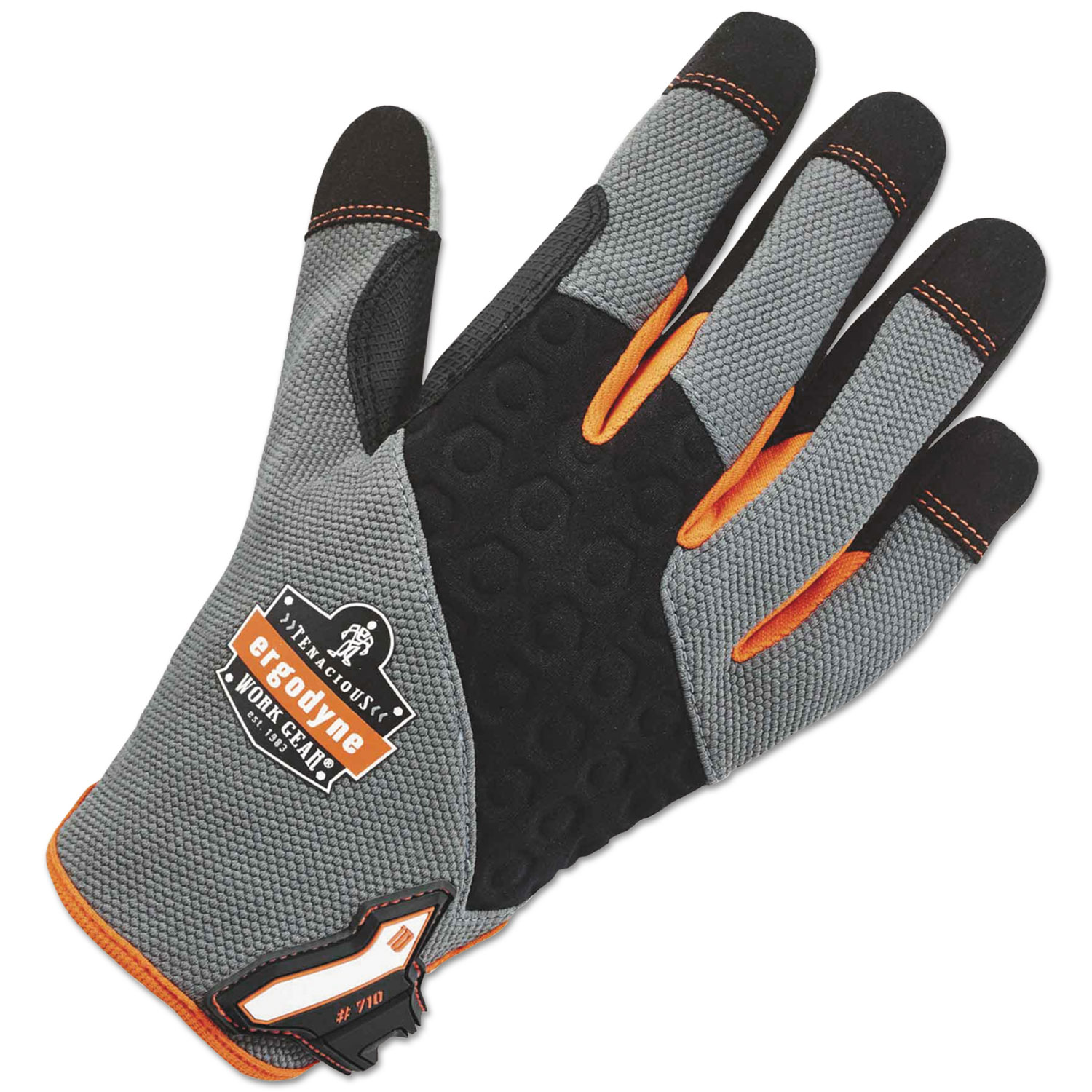 ergodyne ProFlex 710 Heavy-Duty Utility Gloves, Gray, Large, 1 Pair