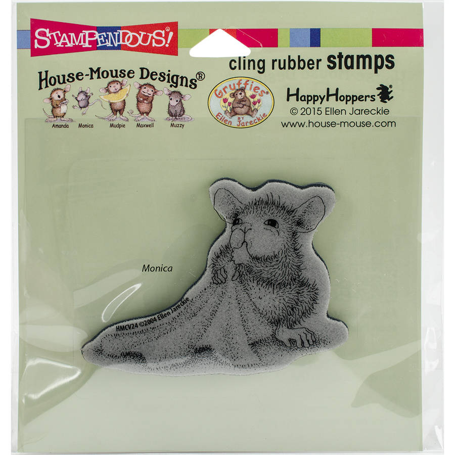 "Stampendous House Mouse Cling Stamp, 4.75"" x 4.5"""