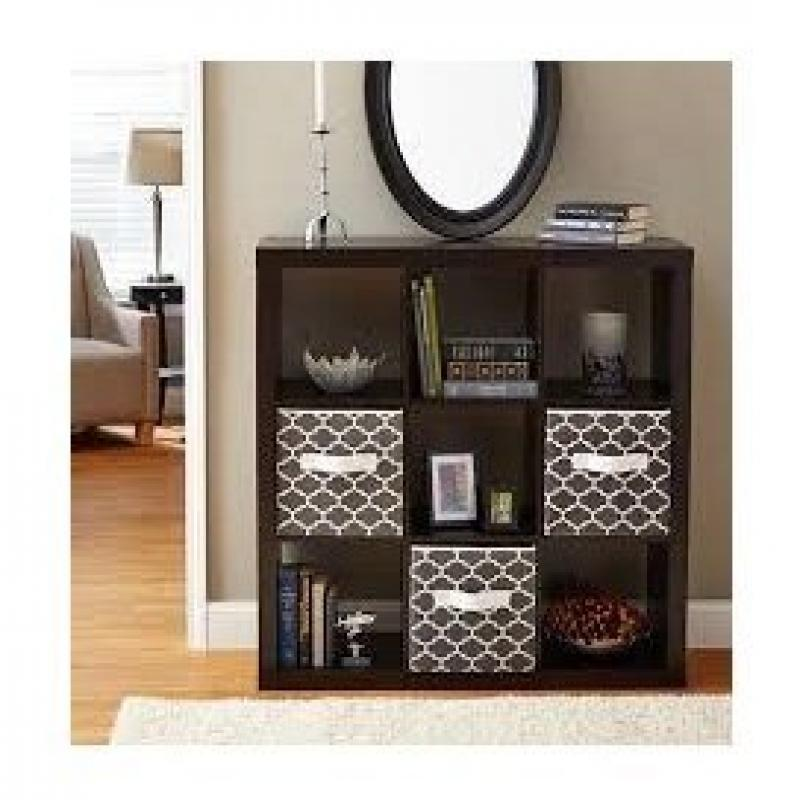 Better Homes and Gardens 9-cube Organizer Storage Bookcase Bookshelf Cabinet Divider Multiple Colors - Espresso