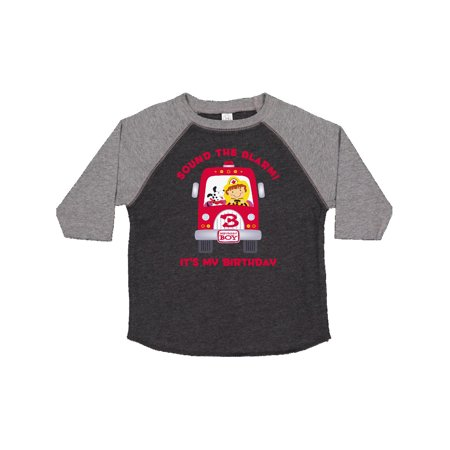 Fire Truck 3rd Birthday Boy Toddler T Shirt