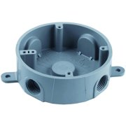 Thomas & Betts E365DR Type T Switch Box, 5 Outlet, 1/2 in Threaded Hub