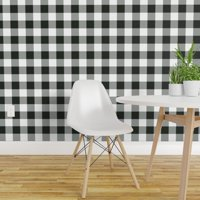 Peel-and-Stick Removable Wallpaper Buffalo Plaid Checks Black Country