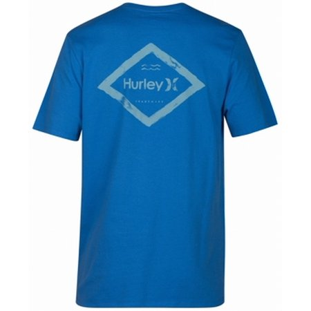 Hurley NEW Blue Mens Size Large L Short Sleeve Graphic Tee T-Shirt