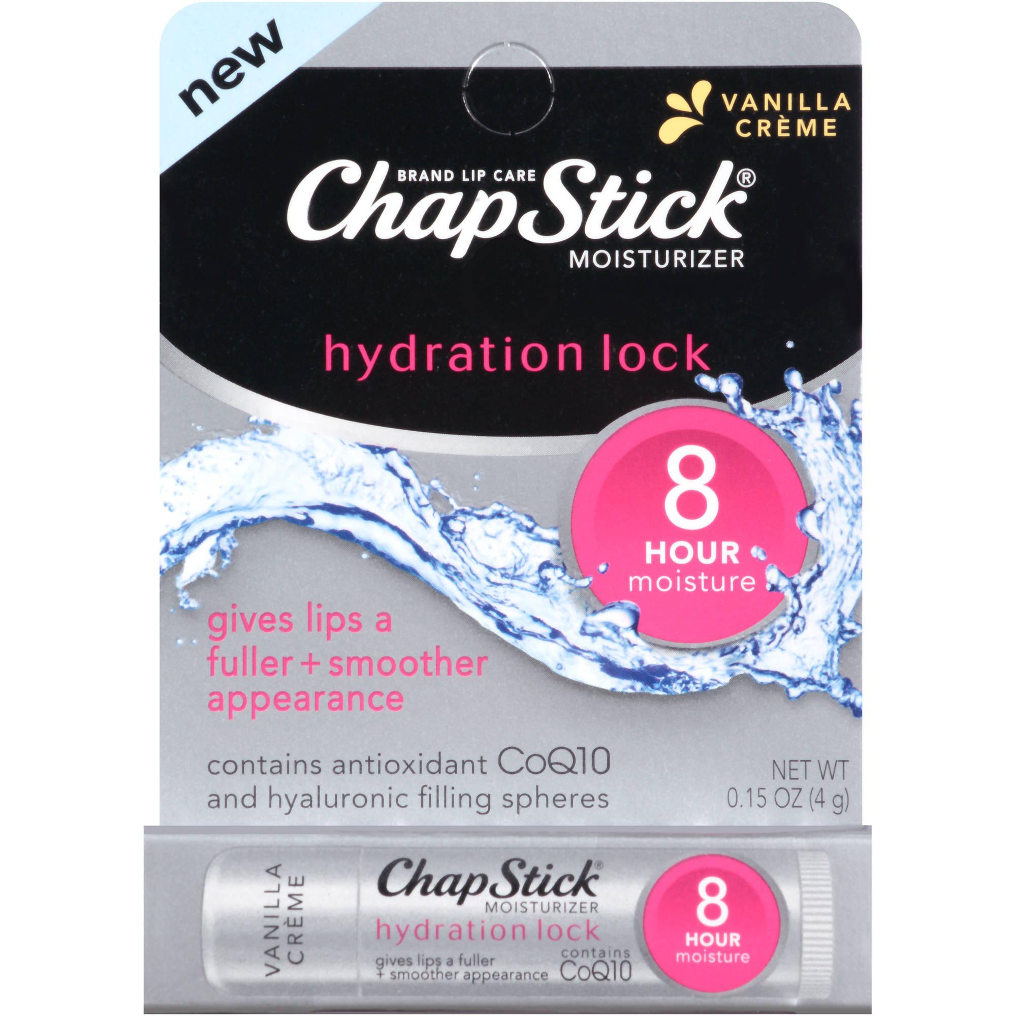 ChapStick Hydration Lock Vanilla Creme Lip Moisturizer, 0.15 oz