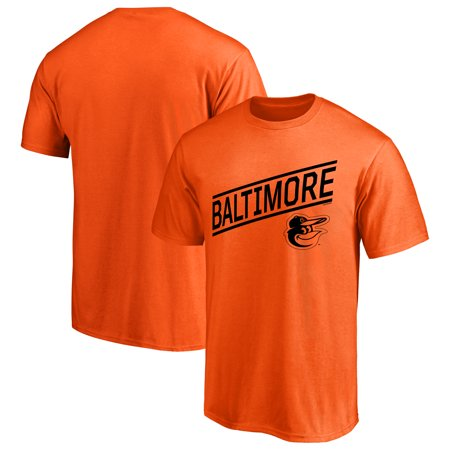 Baltimore Orioles Tee - Men's Majestic Orange Baltimore Orioles Upward Momentum T-Shirt