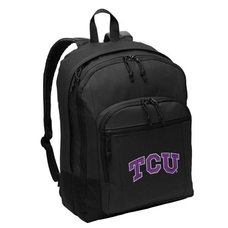 Texas Christian University Backpack CLASSIC STYLE TCU Backpacks Travel & School (Crooked Horn Backpack)